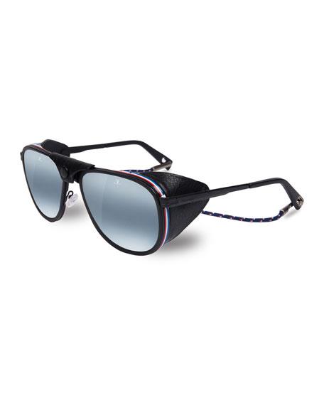 9d467d18c8 Vuarnet Men s Glacier XL Polarized Sunglasses w  Removable Leather Side Case