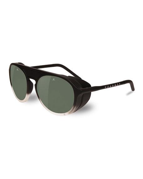 VUARNET Ice 51Mm Polarized Sunglasses - Gradient Black / Grey Polar