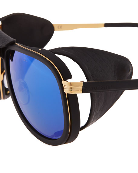Glacier Pilot Sport Polarized Sunglasses with Detachable Leather Components