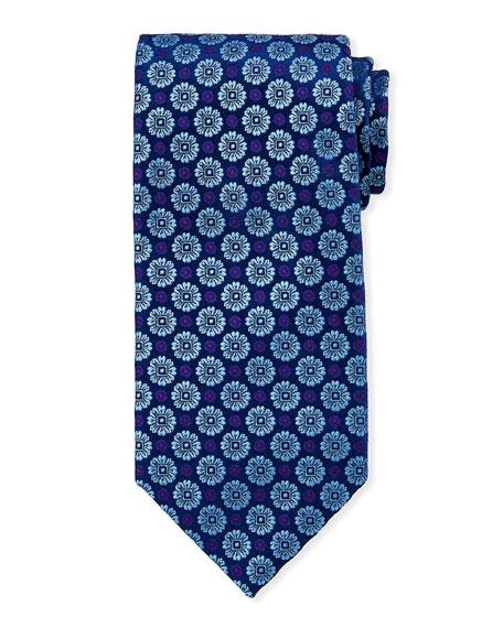 Charvet Large-Floral Silk Tie