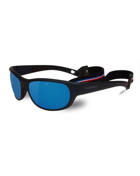 VUARNET Medium Cup 62Mm Polarized Sunglasses - Matt Metallic Blue / Black