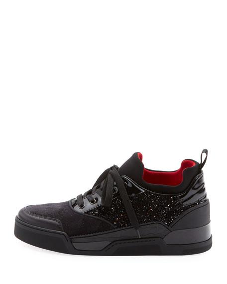 6c1bd856654 Christian Louboutin Men s Aurelien Multimedia Low-Top Sneaker