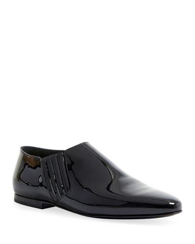 Men's Connor Crop Patent Chelsea Boots