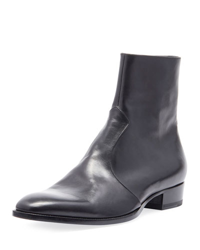 Men's Wyatt 30 Side-Zip Leather Ankle Boots