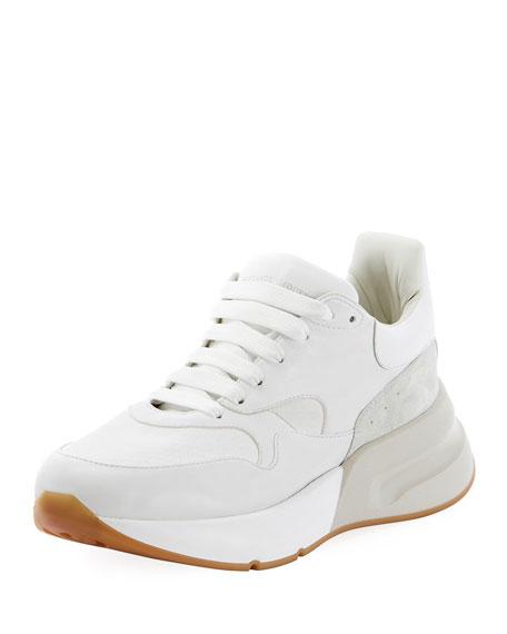 Alexander McQueen Men's Runway Oversized Leather Runner Sneaker