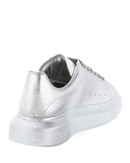 4e3a6821267939 Alexander McQueen Men s Oversized Tonal Metallic Leather Sneakers