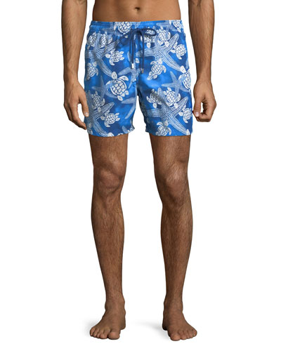 Men's Moorea Starlettes Turtles Vintage Swim Trunks