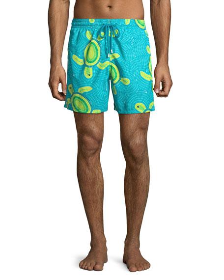 55a60037e1 Vilebrequin Men's Moorea Mosaic Turtles Swim Trunks