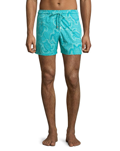 Men's Hypnotic Turtles Graphic Swim Trunks