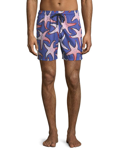 Men's Starfish Art Swim Trunks