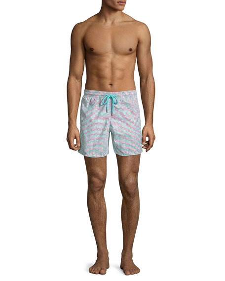 Men's Modernist Fish Swim Trunks