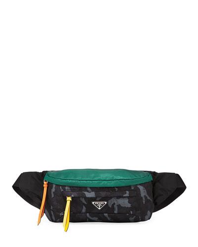 Men's Tessuto Stampato Belt Bag/Fanny Pack