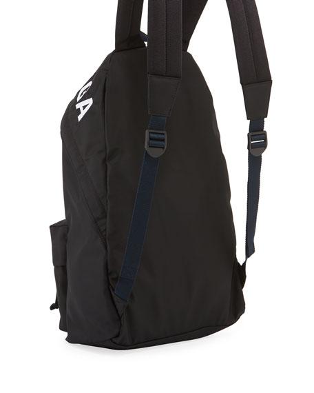 5a1eeac24aeb Balenciaga Men s Wheel Logo-Print Backpack