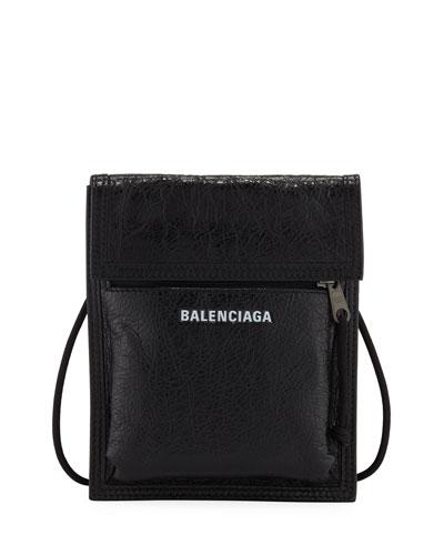Men's Explorer Leather Pouch Strap Bag