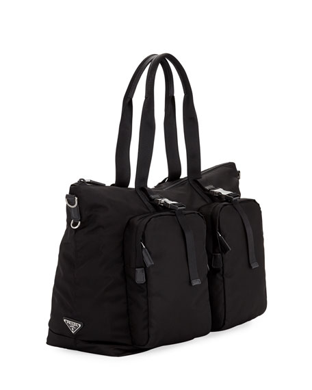 4eac87a4b277 Prada Men's Tessuto Montagna Duffel Bag with Strap