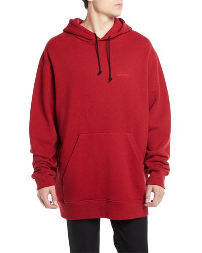Men's Oversized Logo Hoodie