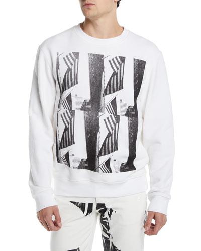 Men's Flags Graphic Sweatshirt