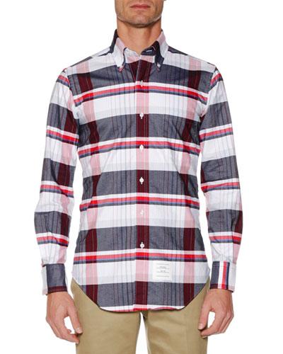 Men's Plaid Oxford Shirt