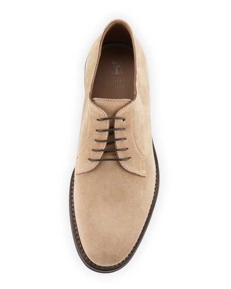 Men's Suede Lace-Up Shoes