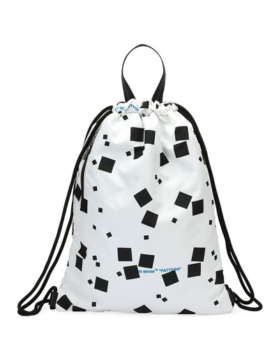 Men's Geometric Canvas Sling Sack Backpack