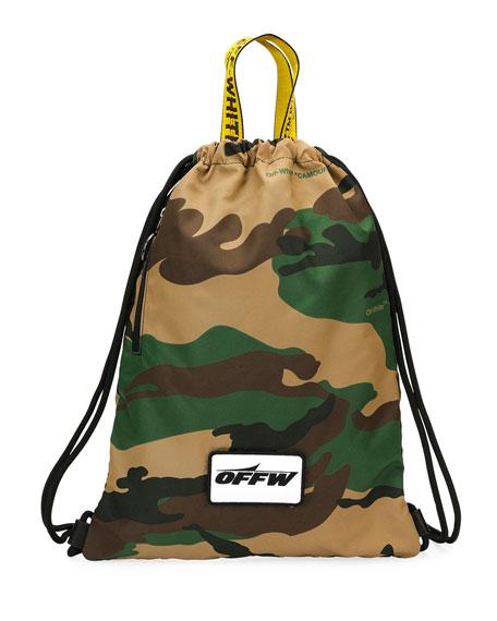 ed16074b9c3 Off-White Men's Camouflage Nylon Sack Backpack