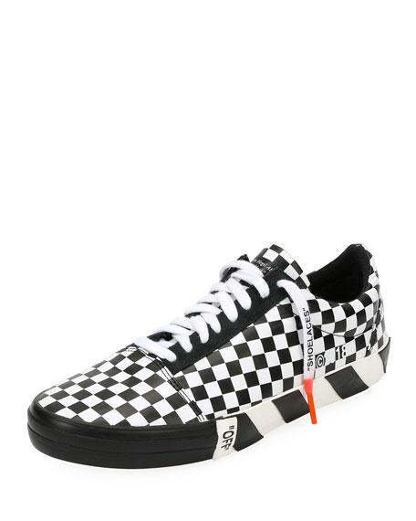 180b80c80 Off-White Men s Vulc Checkered Low-Top Sneaker