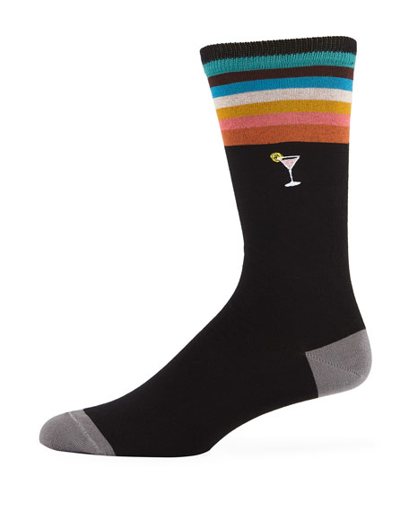 Paul Smith Men's Embroidered Martini Glass Socks