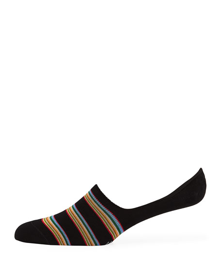 Paul Smith Men's Multi-Block Cotton-Blend No-Show Socks
