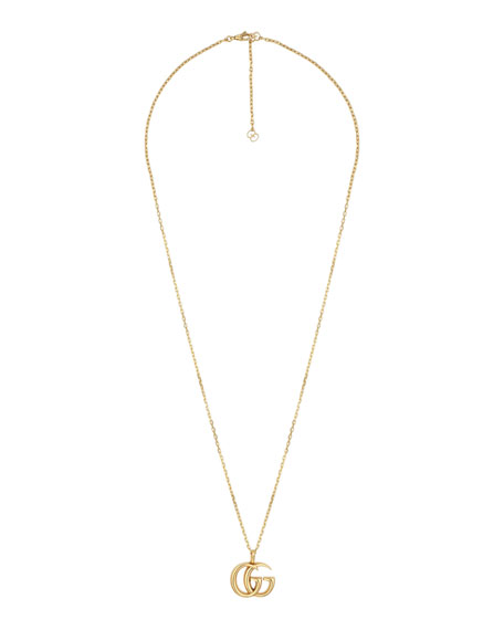 Gucci Men's 18k Gold GG Running Necklace