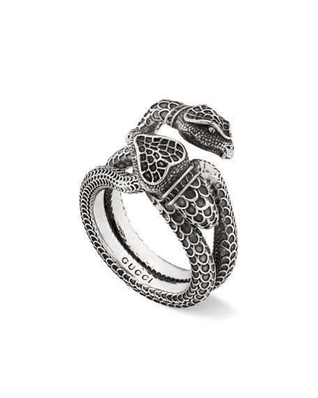 6afa4b82a Gucci Men's Engraved Snake Ring, Size 10.5