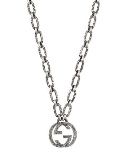 Men's Interlocking G Pendant Necklace