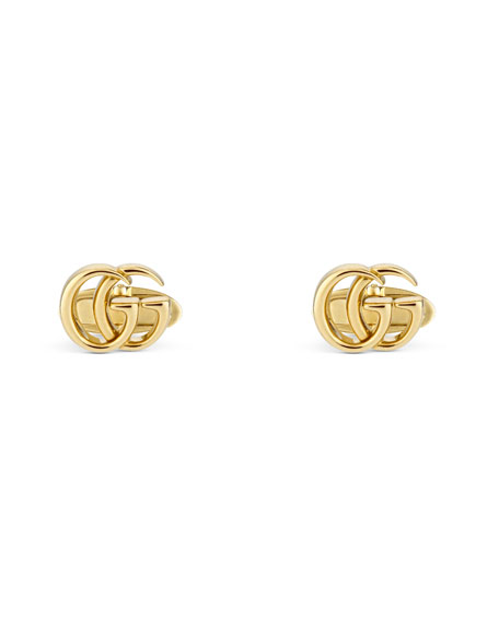 Gucci 18k Yellow Gold GG Running Cufflinks