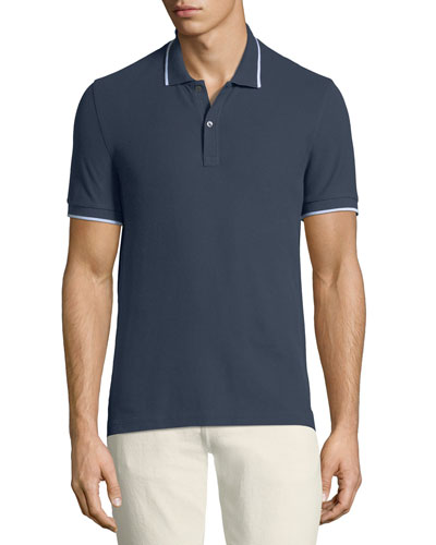 Men's Tipping-Detail Polo Shirt