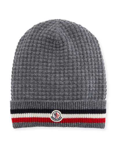Men's Tricot-Knit Beanie Hat