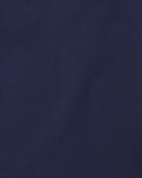 Solid Broadcloth Dress Shirt, Navy