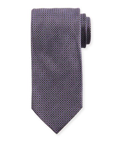 Micro Squares Silk Tie