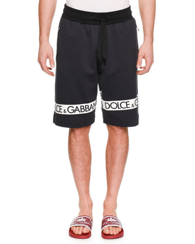Men's Logo-Tape Sweat Shorts