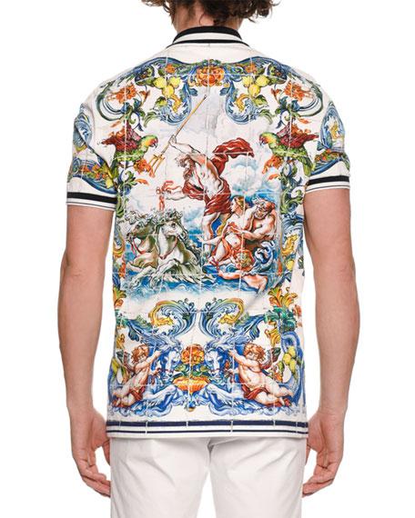 3e6e9c76 Dolce & Gabbana Men's Maiolica Tile-Print Polo Shirt