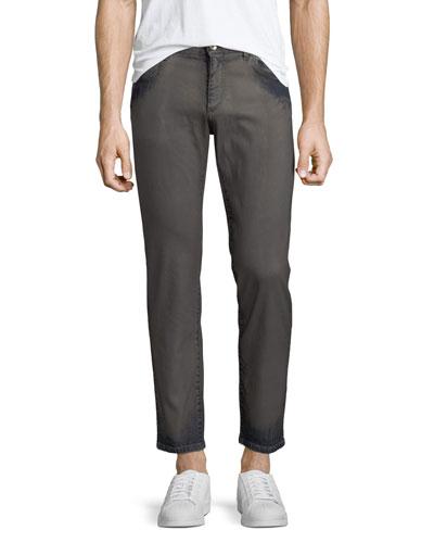 Men's Garment Dyed Straight-Leg Jeans