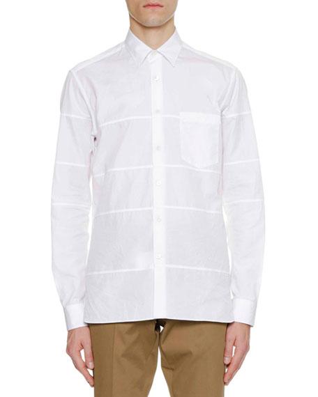 Lanvin Men's Regular-Fit Sport Shirt with Horizontal Cuts