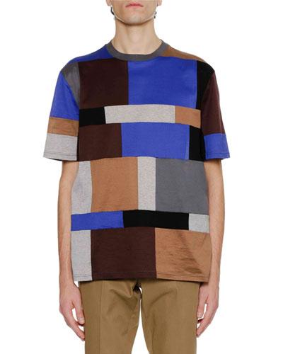 Men's Mercerized Cotton Multi-Patch T-Shirt