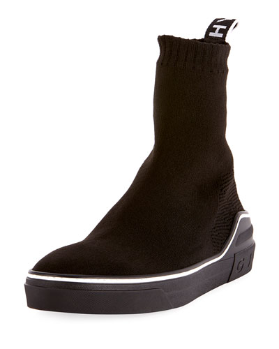 Men's George V High-Top Sock Sneaker with Logo
