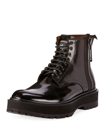 Men's Camden Patent Leather Utility Boots