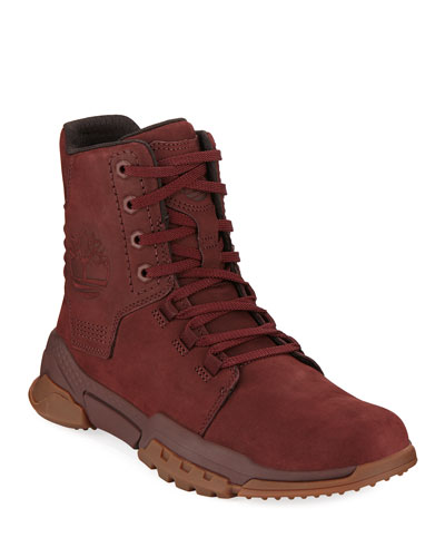 Men's City Force Reveal Leather Boots  Red
