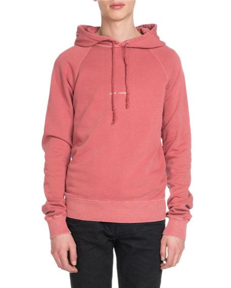 0af8abfa4 Saint Laurent Men's Rive Gauche Cotton Pullover Hoodie Sweatshirt