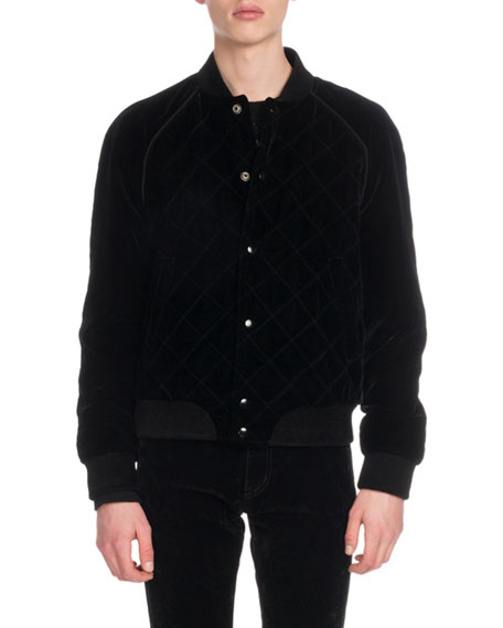 5621d1287521 Saint Laurent Men's Silk Shirt w/ Velvet Collar