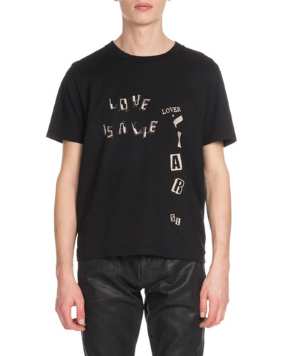 Men's Love Is A Lie Graphic T-Shirt