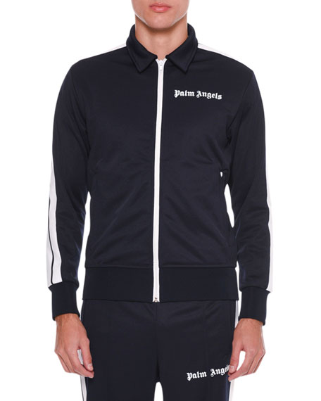 Palm Angels Jackets MEN'S SPREAD-COLLAR TRACK JACKET