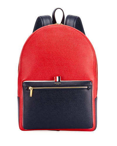 Men's Suberou Colorblock Leather Backpack