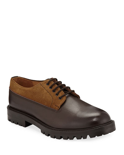 Percy Leather & Suede Lace-Up Shoes
